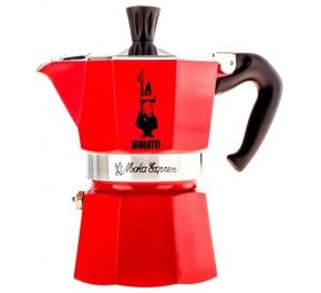 Bialetti Moka Express Color Rossa, 6 чашек