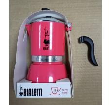 Уценка. Кофеварка гейзерная Bialetti Fiametta цвет Красный, 3 чашки
