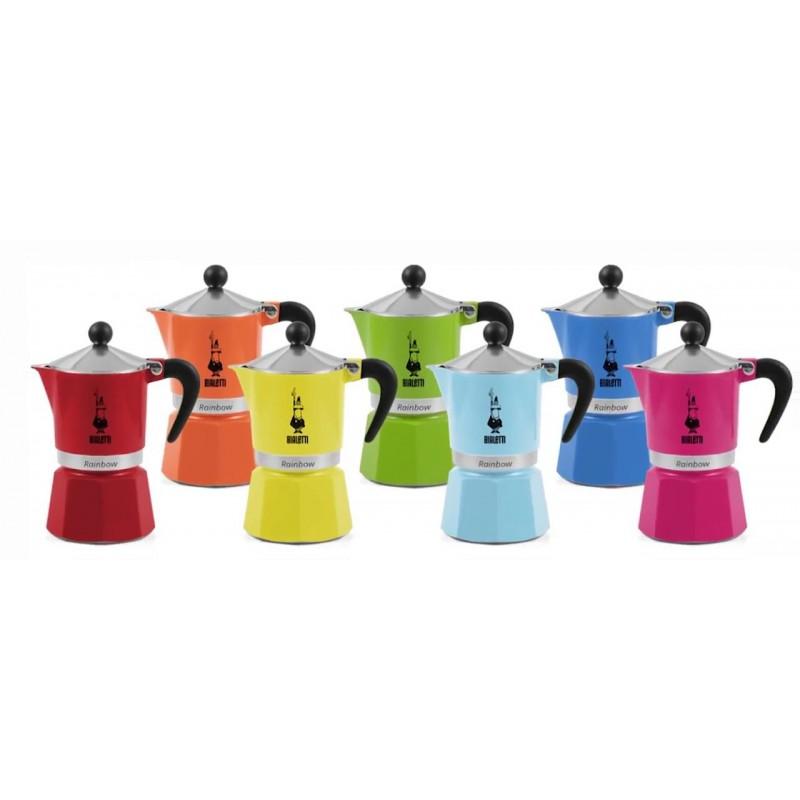 Кофеварка гейзерная Bialetti Fiammetta цвет Голубой, 120 мл., 3 чашки