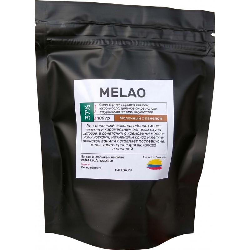 Шоколад молочный с панелой Melao 37%, 100 грамм