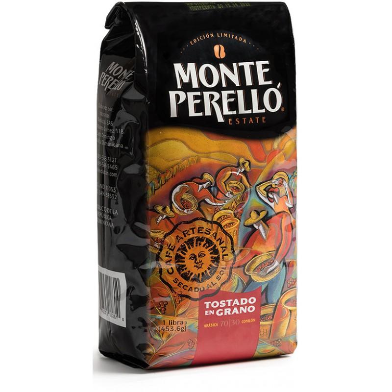 Кофе обжаренный в зернах Monte Perello 453,6 гр., Доминиканская Республика